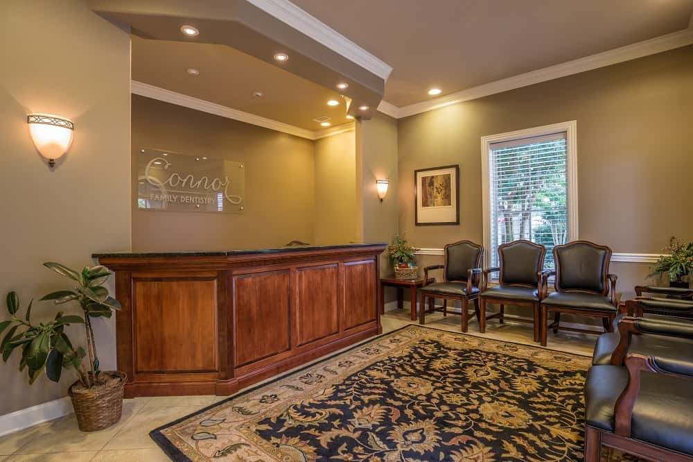 Dental office reception area - Connor Family Dentistry in Hendersonville
